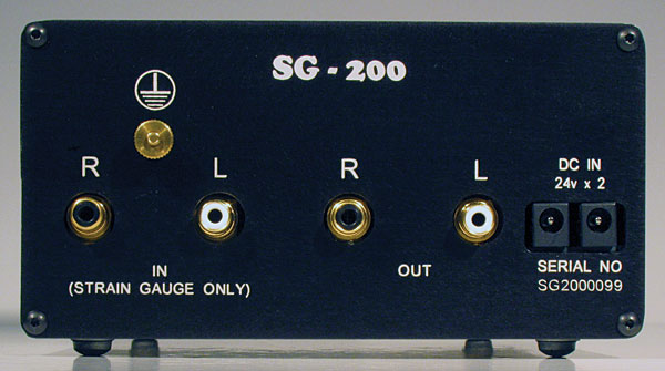 SG-200 Power Supply rear panel